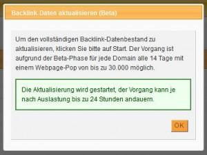 XOVI - Aktualisierung Backlinks