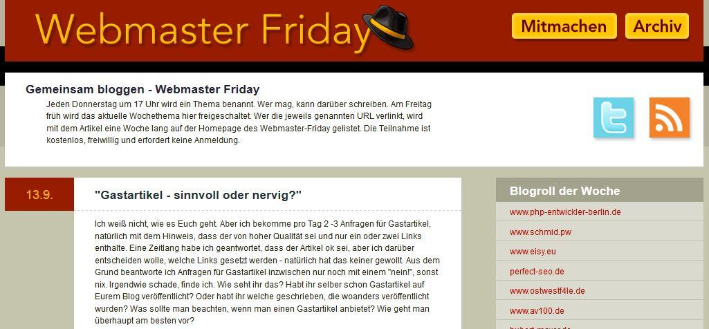 Gastartikel Blog Webmasterfriday