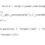 Google Analytics Code im Quelltext