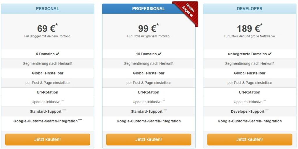 Übersicht über die Lizenzen http://toolflow.de/bouncebooster